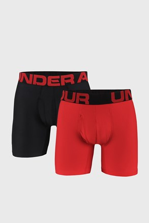2 PACK červených boxerek Under Armour Tech