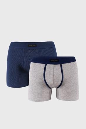 2 PACK синьо-сиви боксерки