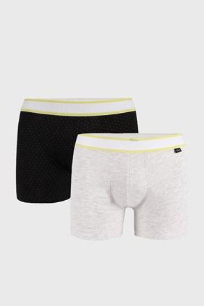 2 PACK сиво-черни боксерки Patrick