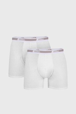 2 PACK бели боксерки с по-дълъг крачол UOMO