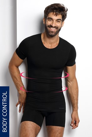 Стягаща тениска с овално деколте