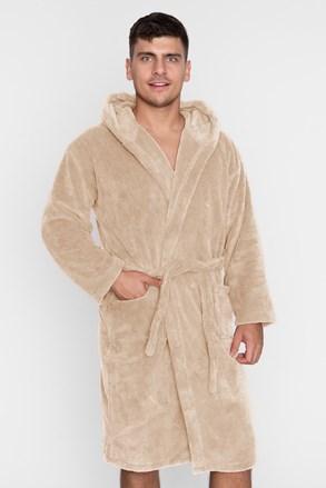 Топлещ халат унисекс бежов