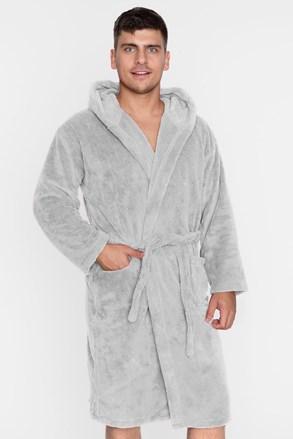 Топлещ халат унисекс сив