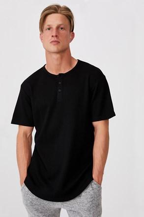Черна тениска Henley