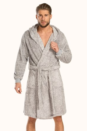 Сив халат Plush