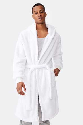 Бял халат Plush
