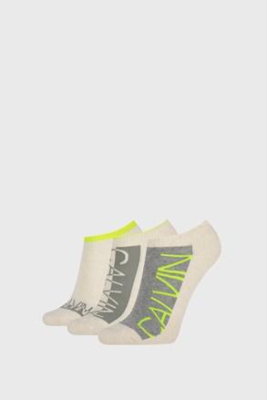 3 PACK бежови дамски чорапи Calvin Klein Nola