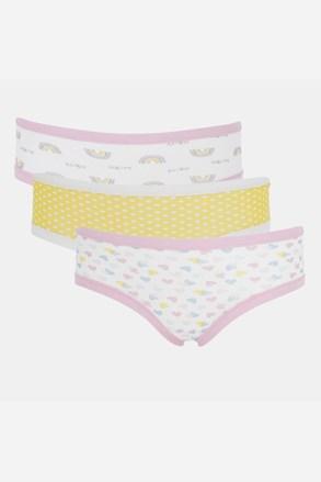 3 PACK бикини за момичета Basic Cotton Rainbow