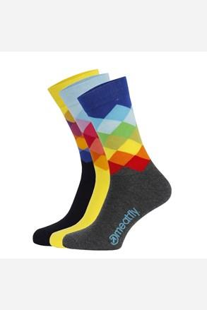 3 pack цветни чорапи Meatfly Pixel