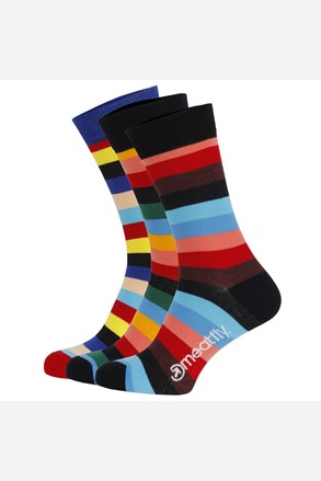 3 pack цветни чорапи Meatfly Regular Stripe
