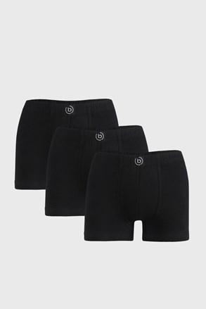 3 PACK черни боксерки bugatti Finian