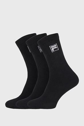 3-pack черни по-дълги чорапи с лого FILA