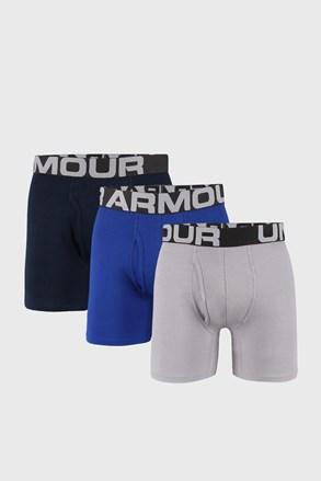 3 PACK синьо-сиви боксерки Under Armour Cotton