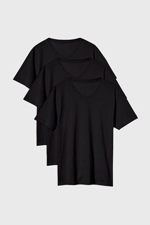 3 PACK черни тениски Kane