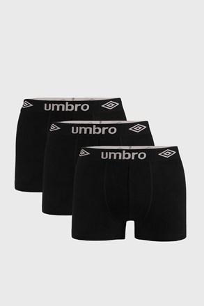 3 PACK черни боксерки Umbro Organic cotton