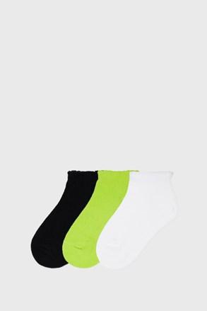 3 PACK къси чорапи за момичета Mayoral Limetka