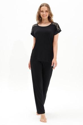 Дамски черен домашен комплект Black Pearl