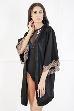 Сатенен халат Nina black