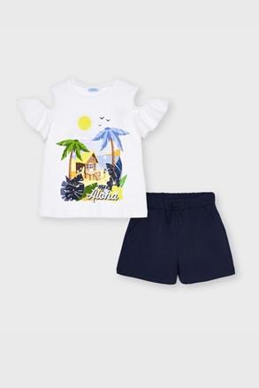Комплект от тениска и шорти за момичета Mayoral Aloha