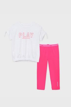 Сет за момичета от спортна тениска и клин Play