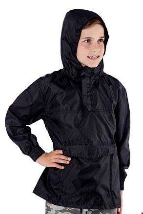 Детско яке в джоб ProClimalite черно непромокаемо