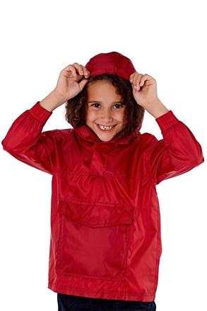 Детско яке в джоб ProClimalite червено непромокаемо