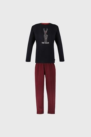 Синьо-червена пижама Tom Tailor Deer