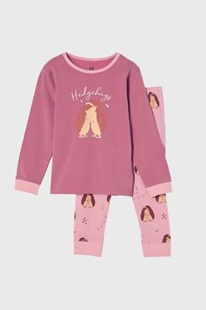 Пижама за момичета Hedgehog hugs