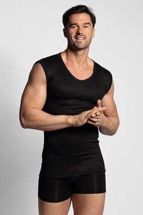Черна термо тениска без ръкави