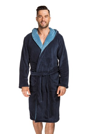 Мъжки халат Adam тъмносин