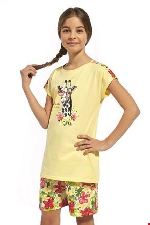 Памучна пижама за момичета Aloha