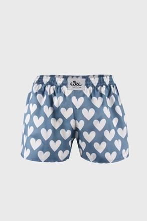 Детски шорти ELKA LOUNGE сини на сърчица