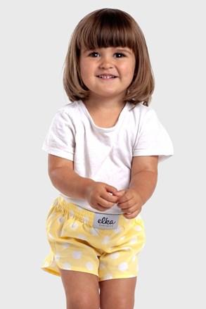 Детски шорти ELKA LOUNGE Žlutý puntík