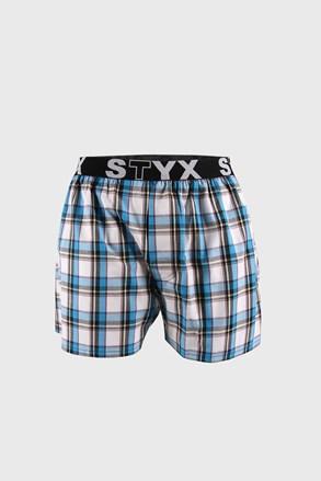 Синьо-бели карирани шорти STYX