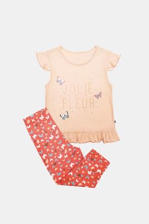 Оранжева пижама за момичета Lilа