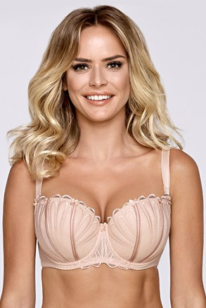 Сутиен Waves Beige Half bardot подплатени