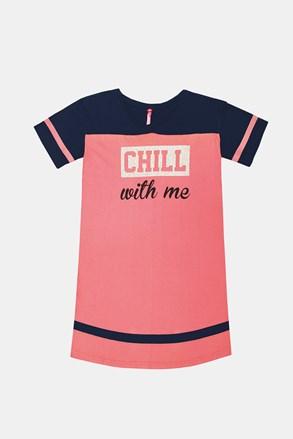 Розова нощничка за момичета Crew