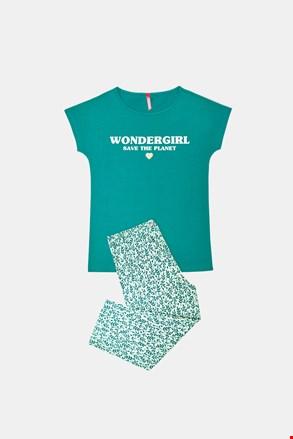 Зелена пижама за момичета Save planet