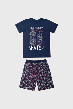 Тъмносиня пижама за момчета Skate