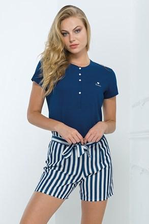 Дамски домашен комплект син
