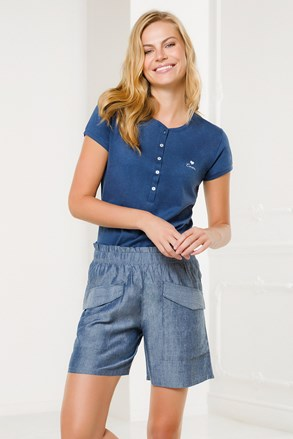 Син дамски домашен комплект Pantalone