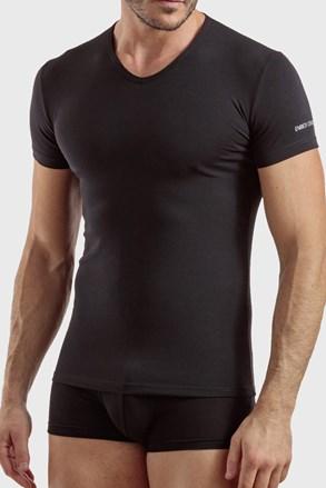 Черна памучна тениска Max PLUS SIZE
