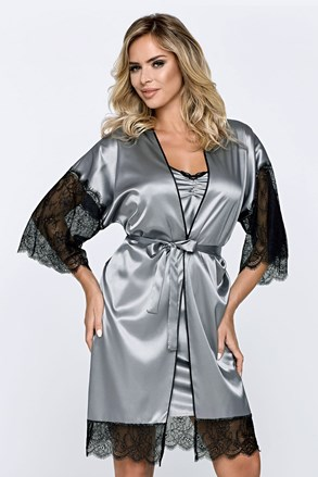 Дамски халат Escora сив