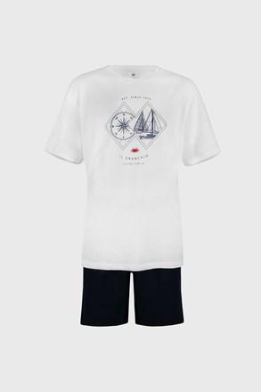 Бяла пижама Sailing PLUS SIZE