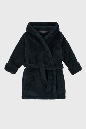 Сив халат за момчета Simple