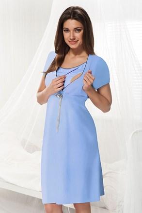 Нощничка за бременни и кърмачки Dorota синя