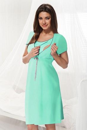 Нощничка за бременни и кърмачки Dorota цвят мента