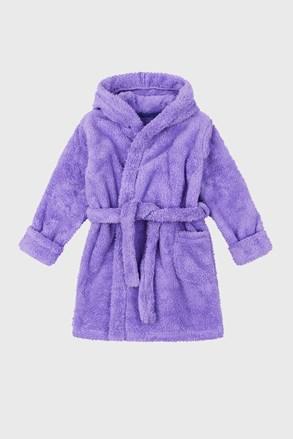 Халат за момичета Simple цвят лавандула