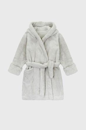 Светлосив халат за момчета Simple