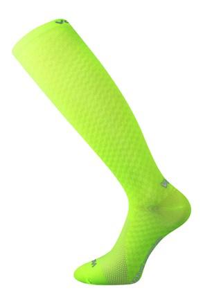 Чорапи с компресия до под коляното Lithe жълт неон